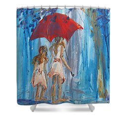 Give Me Shelter Shower Curtain