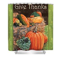 Give Thanks Shower Curtain by Debbie DeWitt