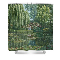 Giverny Reflections Shower Curtain by Richard Harpum