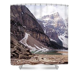 Glacial Debris Shower Curtain by Jenny Hudson