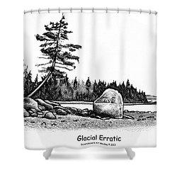 Glacial Erratic Shower Curtain
