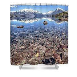 Glacial Lake Mcdonald Shower Curtain