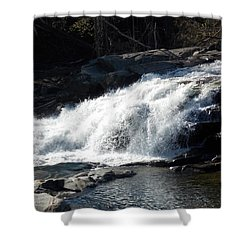 Glacial Potholes Falls Shower Curtain by Catherine Gagne