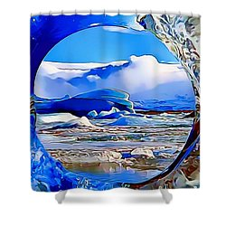 Glacier Shower Curtain by Catherine Lott