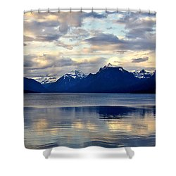 Glacier Morning Shower Curtain