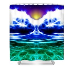 Glacier Sunset Shower Curtain by Stephen Younts
