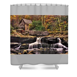Glade Creek Grist Mill 1a - Autumn Late Afternoon Babcock State Park Wv Shower Curtain