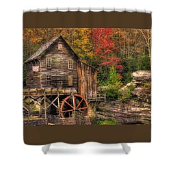 Glade Creek Grist Mill-1a Babcock State Park Wv Autumn Late Afternoon Shower Curtain