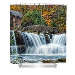 Glade Creek Grist Mill And Waterfalls Shower Curtain