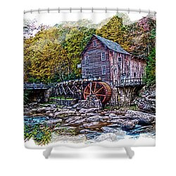 Glade Creek Grist Mill Shower Curtain by Randall Branham