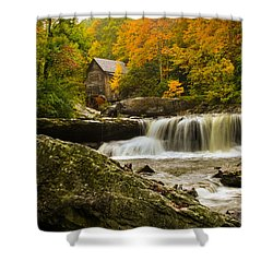 Glade Creek Grist Mill Shower Curtain by Shane Holsclaw