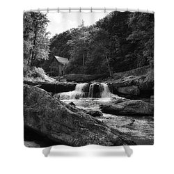 Glade Creek Waterfall Shower Curtain by Shelly Gunderson