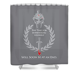 Gladiator Shower Curtain by Timothy Lowry