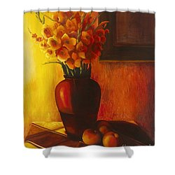 Gladioli Red Shower Curtain