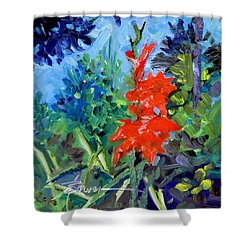 Gladiolus Shower Curtain