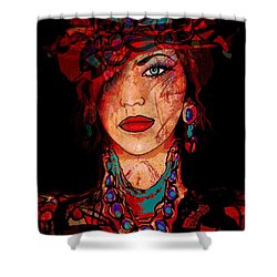 Glamor Shower Curtain by Natalie Holland