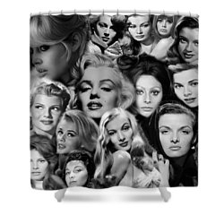 Glamour Girls 2 Shower Curtain by Andrew Fare