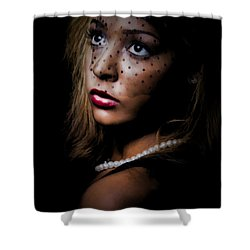 Glamour Shower Curtain by Linda Blair