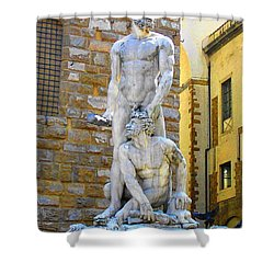 Glance At Hercules And Casus Shower Curtain