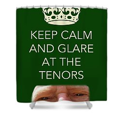 Glare At The Tenors Shower Curtain