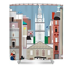 Glasgow Shower Curtain by Karen Young