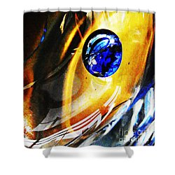 Glass Abstract 281 Shower Curtain by Sarah Loft