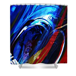 Glass Abstract 293 Shower Curtain by Sarah Loft