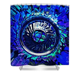 Glass Abstract 481 Shower Curtain by Sarah Loft
