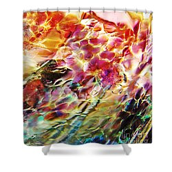 Glass Abstract 753 Shower Curtain by Sarah Loft
