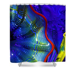 Glass Abstract One Shower Curtain