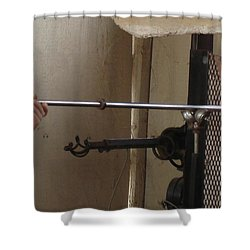 Shower Curtain featuring the photograph Glass Artisan Hands by Kerri Mortenson