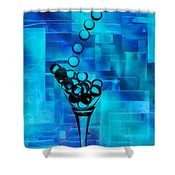 Glass Balls Shower Curtain by Mauro Celotti