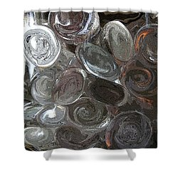 Shower Curtain featuring the digital art Glass In Glass 2 by Mary Bedy