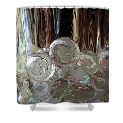 Shower Curtain featuring the digital art Glass In Glass by Mary Bedy
