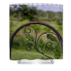 Glass Leaves Shower Curtain