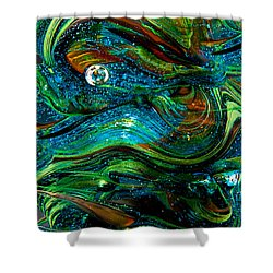 Glass Macro Abstract 13e7 Shower Curtain by David Patterson