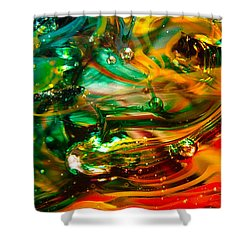 Glass Macro Abstract Ego1ce Shower Curtain by David Patterson