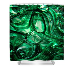 Glass Macro Abstract Egw Shower Curtain by David Patterson