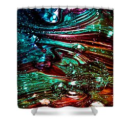 Glass Macro Abstract Rb3ce Shower Curtain by David Patterson