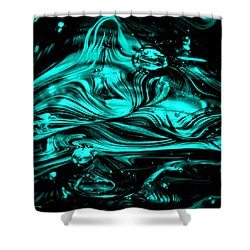 Glass Macro Abstract Rbwce2 Shower Curtain by David Patterson