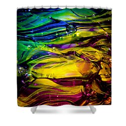 Glass Macro Abstract Rcy1 Shower Curtain