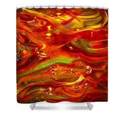 Glass Macro Abstract Rf1 Shower Curtain by David Patterson