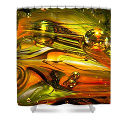 Glass Macro Abstract Rgo1 Shower Curtain by David Patterson