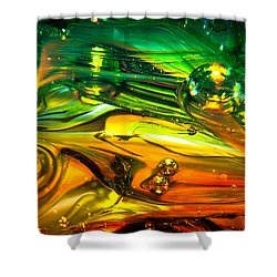 Glass Macro Abstract Rgo1ce2 Shower Curtain by David Patterson