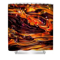 Glass Macro Abstract Rpo Shower Curtain by David Patterson