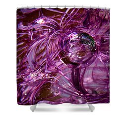 Glass Macro - Deep Pinks Shower Curtain by David Patterson