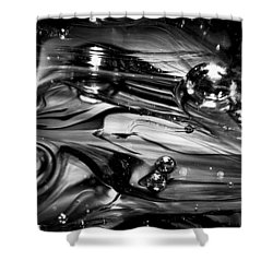 Glass Macro Rgo1ce Shower Curtain by David Patterson