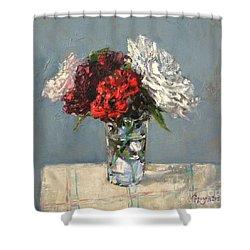 Glass Of Flowers Shower Curtain