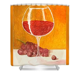 Glass Of Grapes Shower Curtain