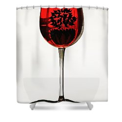 Glass Of Wine... Shower Curtain